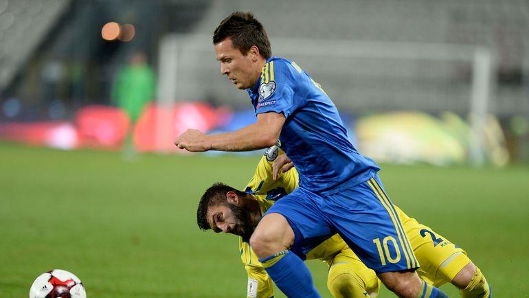 Евгений КОНОПЛЯНКА в матче с Косово. Фото REUTERS