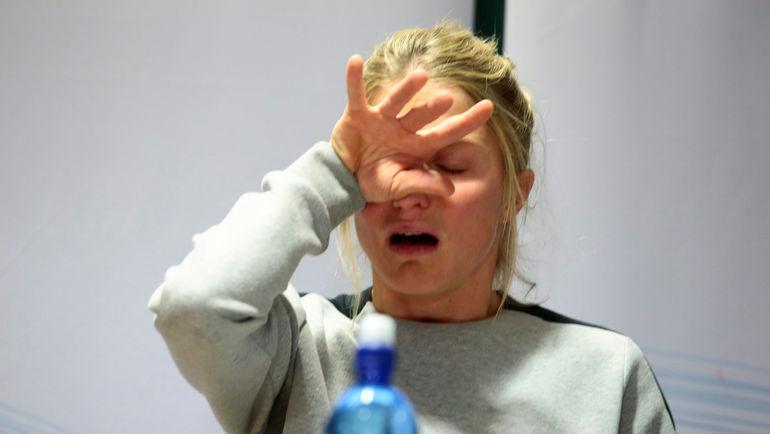 Четверг. Осло. Тереза ЙОХАУГ на специальной пресс-конференции рассказала о том, откуда в ее допинг-пробе взялся запрещенный препарат. Фото REUTERS