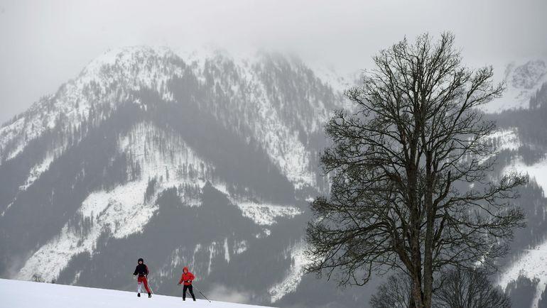 Рамзау, в котором российские лыжники и биатлонисты начали подготовку к новому сезону, зимой. Фото AFP