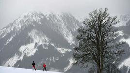 Рамзау, в котором российские лыжники и биатлонисты начали подготовку к новому сезону, зимой.