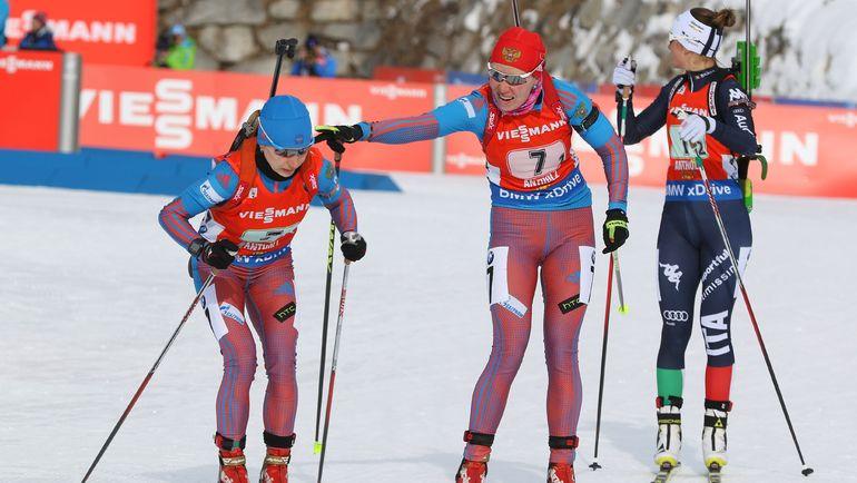 Женская сборная России по биатлону. Фото AFP