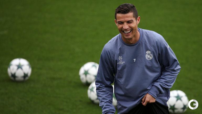 """Понедельник. Мадрид. Тренировка """"Реала"""". Криштиану РОНАЛДУ."""