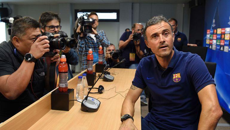 Вторник. Барселона. ЛУИС ЭНРИКЕ. Фото AFP