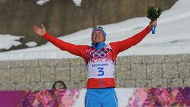 23 февраля 2014 года. Сочи. Радость олимпийского чемпиона Александра ЛЕГКОВА.