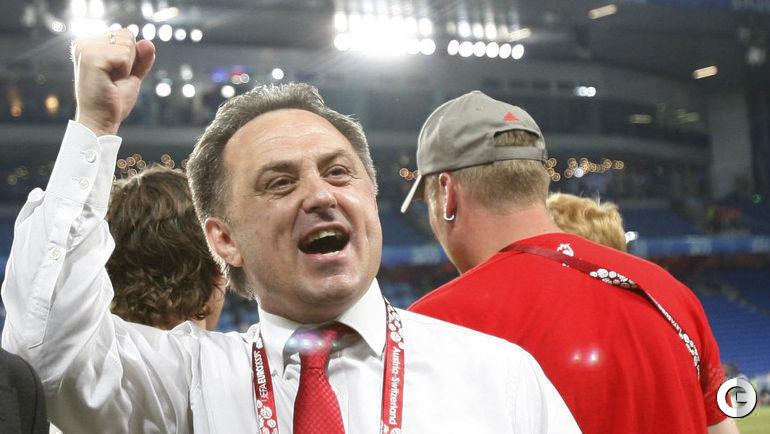 2008 год. Базель. Виталий МУТКО празднует победу над Голландией в четвертьфинале Euro-2008.