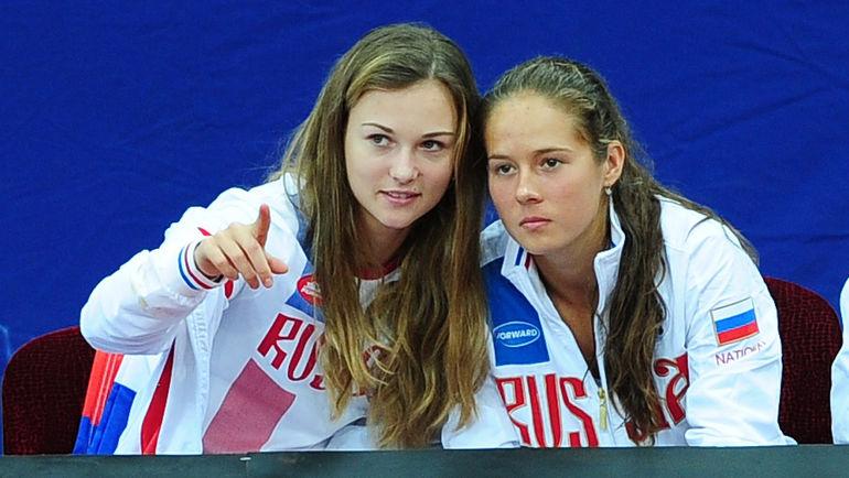 "Анна КАЛИНСКАЯ (слева) и Дарья КАСАТКИНА. Фото Никита УСПЕНСКИЙ, ""СЭ"""