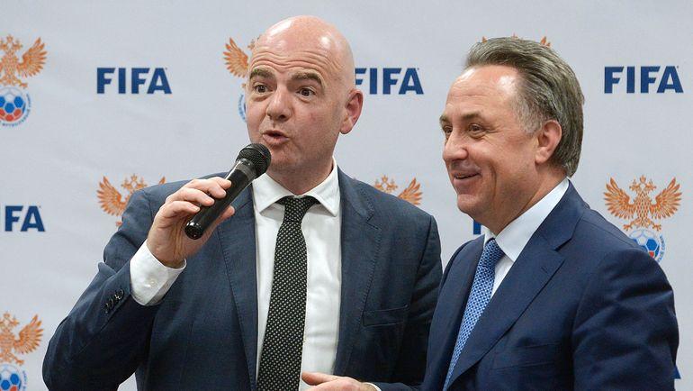 Виталий МУТКО (справа) и президент ФИФА Джанни ИНФАНТИНО. Фото AFP