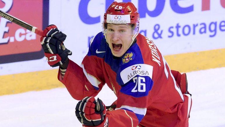 Егор КОРШКОВ в составе молодежной сборной России. Фото REUTERS