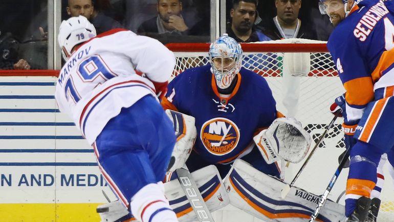 """Среда. Нью-Йорк. """"Нью-Йорк Айлендерс"""" - """"Монреаль"""" - 2:3. Андрей МАРКОВ. Фото AFP"""