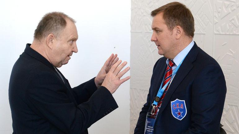 Виктор ЛЕВИЦКИЙ (слева). Фото Алексей БЕЗЗУБОВ, photo.khl.ru