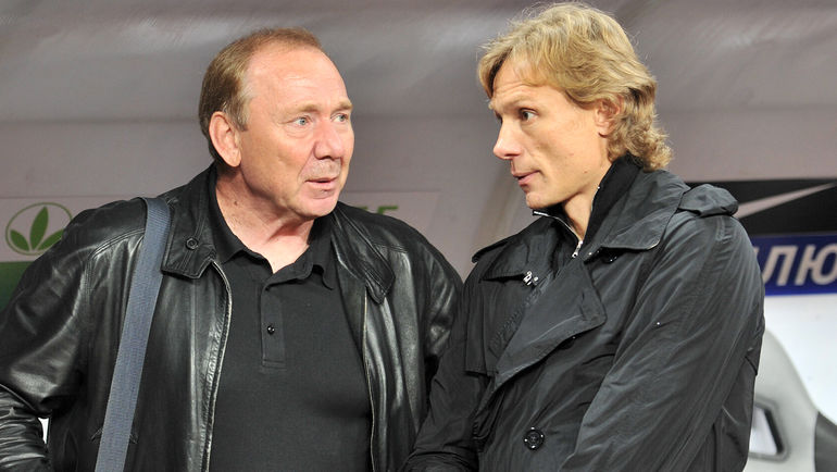 """Олег РОМАНЦЕВ (слева) и Валерий КАРПИН. Фото Алексей ИВАНОВ, """"СЭ"""""""