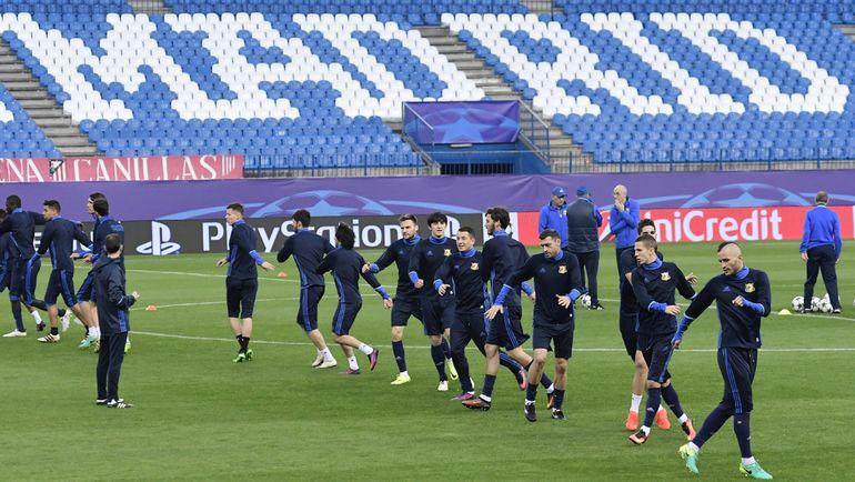 """Понедельник. Мадрид. Игроки """"Ростова"""" на тренировке. Фото AFP"""