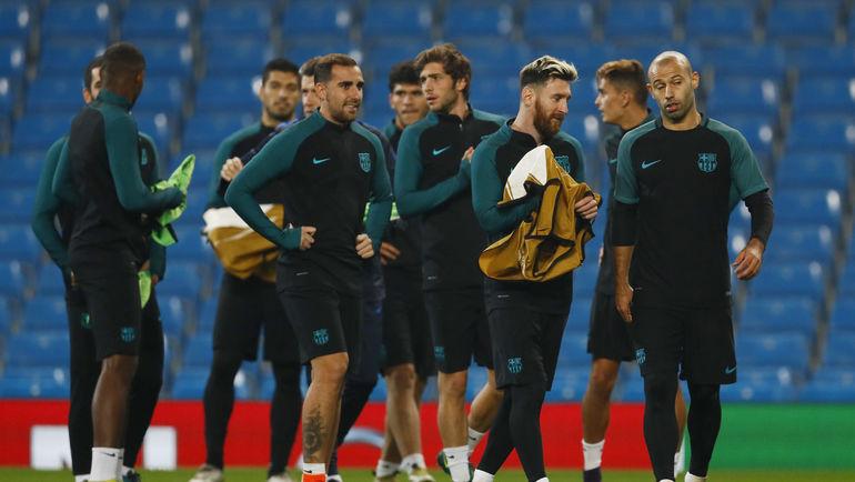 """""""Барселона"""" приехала в Манчестер в гости к """"Сити"""" Хосепа Гвардьолы. Фото AFP"""
