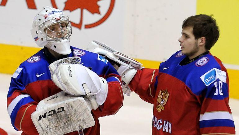 Илья СОРОКИН (слева) и Игорь ШЕСТЕРКИН. Фото photo.khl.ru