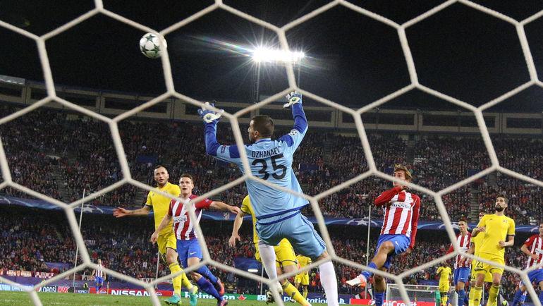 90+4-я минута. Победный гол Антуана ГРИЗМАННА. Фото REUTERS
