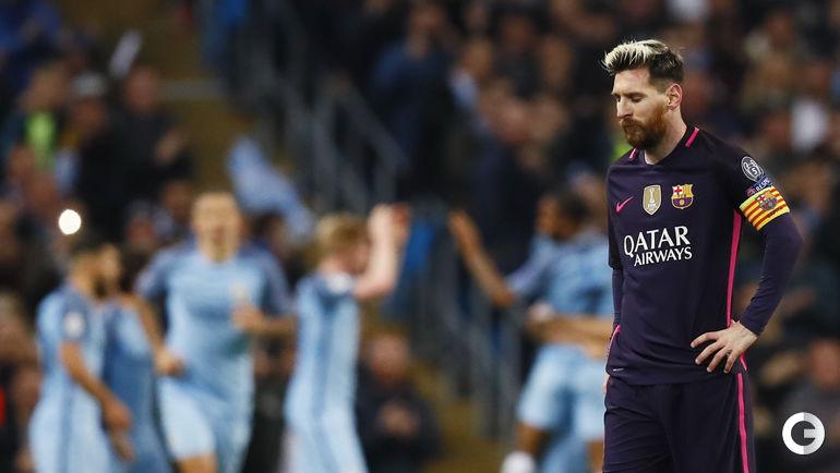 """Вторник. Манчестер. """"Манчестер Сити"""" – """"Барселона"""" – 3:1. Лионель МЕССИ забил гол, но его команда проиграла."""