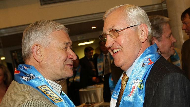 Владимир ЮРЗИНОВ и Борис МИХАЙЛОВ. Фото photo.khl.ru