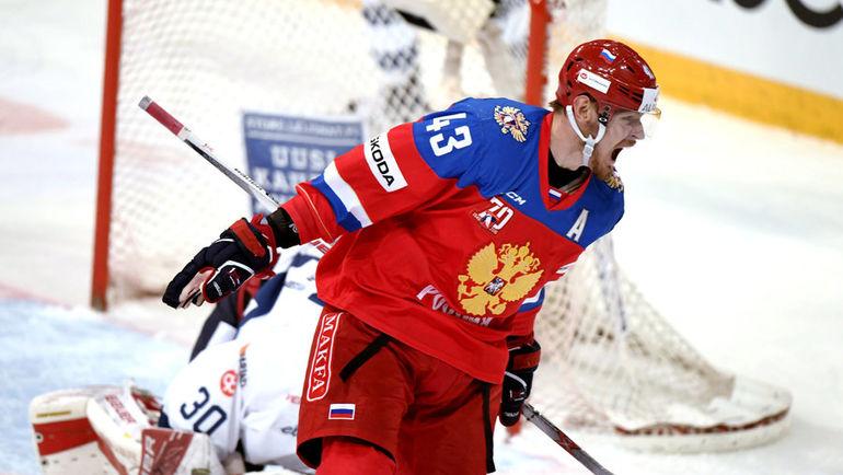 Сегодня. Хельсинки. Россия - Финляндия - 5:1. Валерий НИЧУШКИН. Фото REUTERS