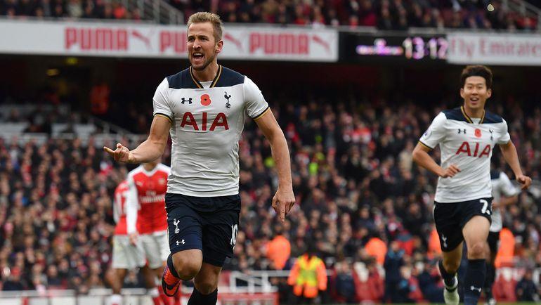 """Воскресенье. Лондон. """"Арсенал"""" - """"Тоттенхэм"""" - 1:1. 51-я минута. Харри КЕЙН празднует гол. Фото REUTERS"""