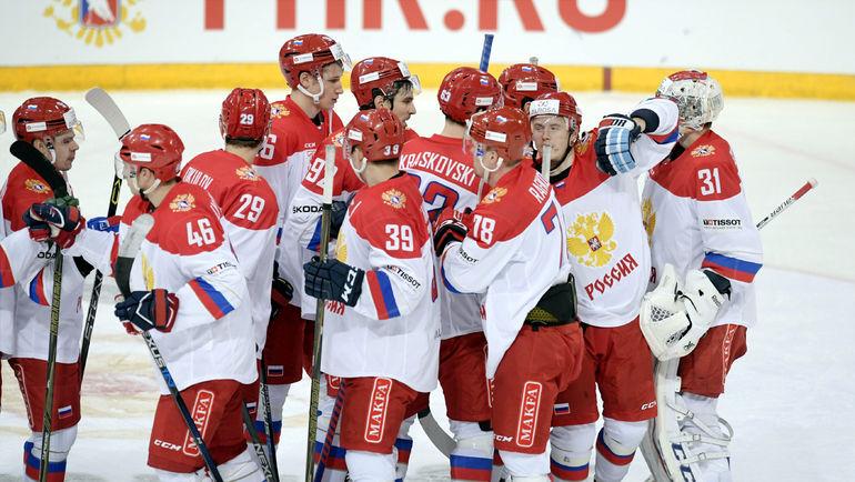 Сегодня. Хельсинки. Чехия - Россия - 0:3. Россияне празднуют победу в игре и на турнире. Фото REUTERS