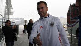 Сегодня. Шереметьево. Игорь АКИНФЕЕВ - единственный армеец в составе сборной.