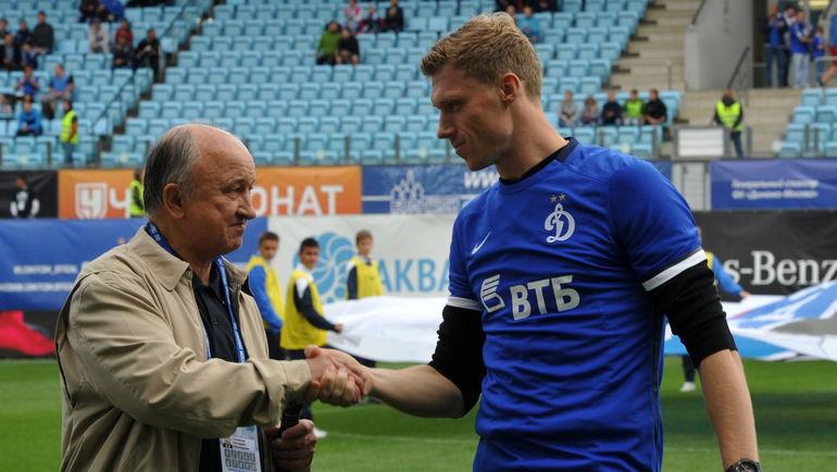 """Геннадий СОЛОВЬЕВ (слева) и Павел ПОГРЕБНЯК. Фото Никита УСПЕНСКИЙ, """"СЭ"""""""