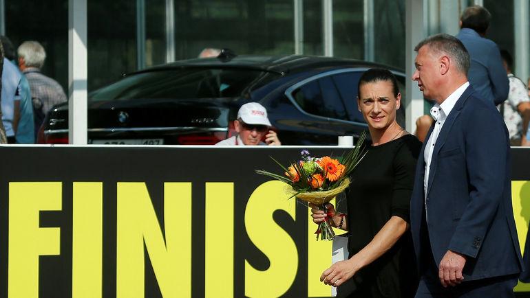 28 июля 2016 года. Москва. Елена ИСИНБАЕВА и Дмитрий ШЛЯХТИН. Фото Reuters