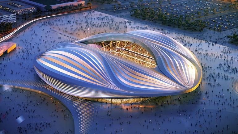 """Макет стадиона """"Аль-Вакра."""