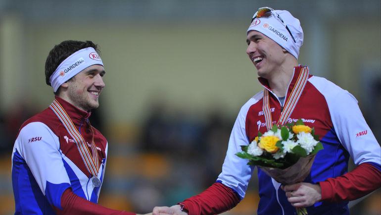 """Павел КУЛИЖНИКОВ (справа) и Денис ЮСКОВ. Фото Александр ФЕДОРОВ, """"СЭ"""""""