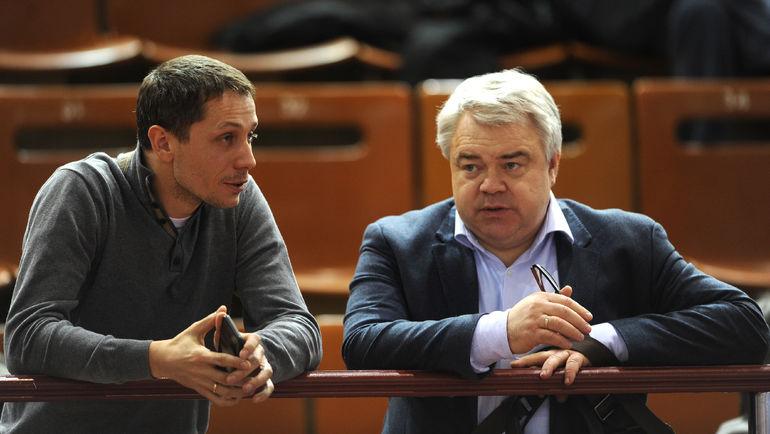 """Михаил БУТОВ (справа) и Юрий БОРЗАКОВСКИЙ. Фото Никита УСПЕНСКИЙ, """"СЭ"""""""