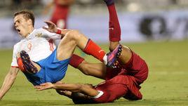 Вчера. Доха. Катар - Россия - 2:1. Хозяева отправили в полет и Александра КОКОРИНА, и всю нашу сборную.