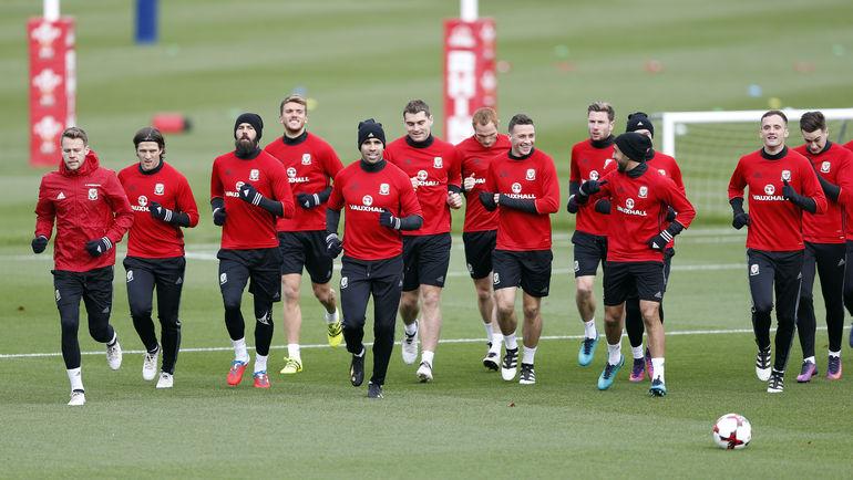 Тренировка сборной Уэльса. Фото REUTERS