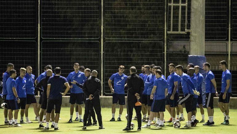 Сборная Израиля готовится к игре с Албанией. Фото AFP
