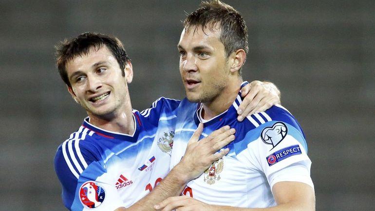 Алан ДЗАГОЕВ (слева) и Артем ДЗЮБА не смогли сыграть за сборную России. Фото REUTERS