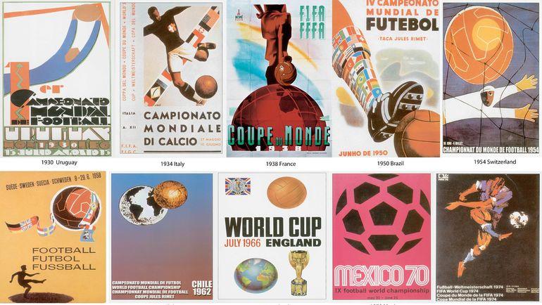 Постеры предыдущих чемпионатов мира.