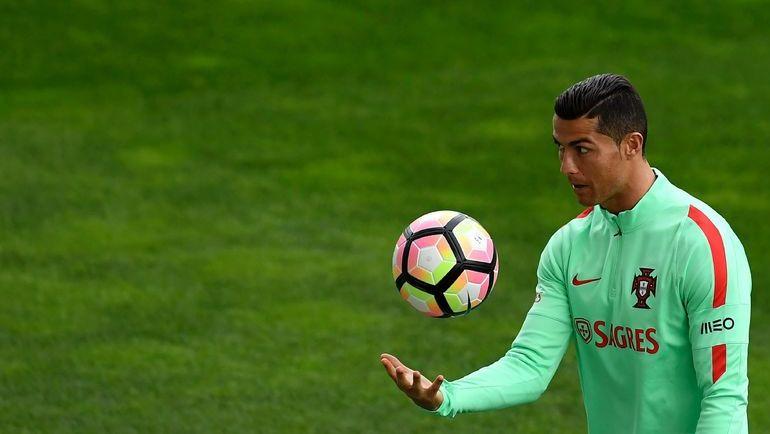 Нападающий сборной Португалии КРИШТИАНУ РОНАЛДУ. Фото AFP