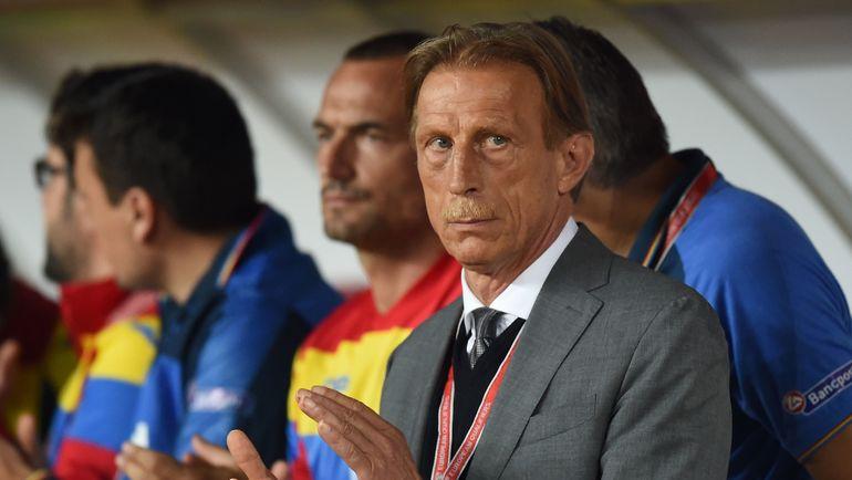 Сентябрь 2016 года. Кристоф ДАУМ - тренер сборной Румынии. Фото AFP