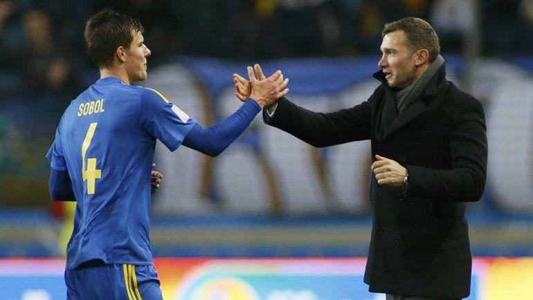 Эдуард СОБОЛЬ (слева) и Андрей ШЕВЧЕНКО. Фото Reuters