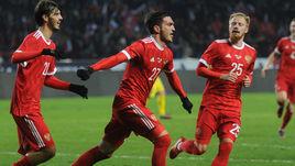 15 ноября. Грозный. Россия - Румыния - 1:0. Радость Магомеда ОЗДОЕВА.