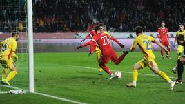Сегодня. Грозный. Россия - Румыния - 1:0. 90+3-я минута. Гол Магомеда ОЗДОЕВА.