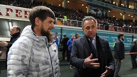 Сегодня. Грозный. Россия - Румыния - 1:0. Виталий МУТКО (справа) и Рамзан КАДЫРОВ.