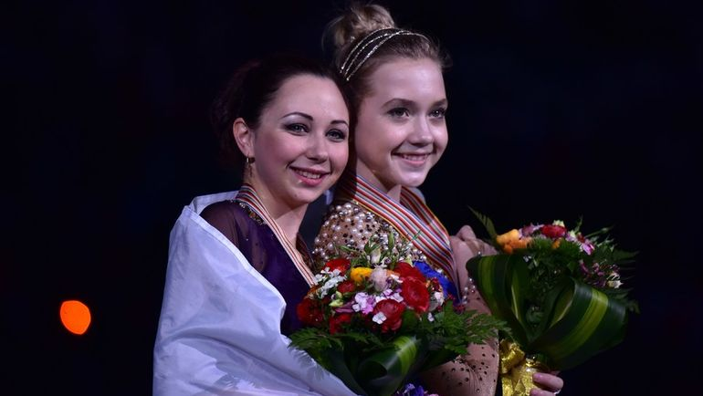 Смогут ли Елизавета ТУКТАМЫШЕВА (слева) и Елена РАДИОНОВА обойти Эшли Вагнер в Пекине? Фото AFP