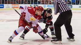 Молодежная сборная России против сборной лиги Квебека.