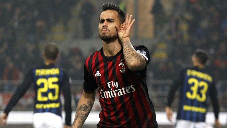 """Вчера. Милан. """"Милан"""" - """"Интер"""" - 2:2. Автор дубля СУСО. Фото Reuters"""