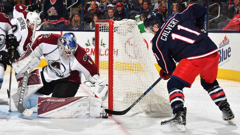 """Понедельник. Коламбус. """"Коламбус"""" - """"Колорадо"""" - 2:3 ОТ. Семен ВАРЛАМОВ (№1). Фото NHL.com"""