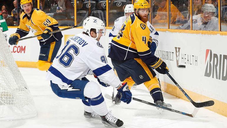 "Понедельник. Нэшвилл. ""Нэшвилл"" - ""Тампа"" - 3:1. Никита КУЧЕРОВ (№86). Фото NHL.com"