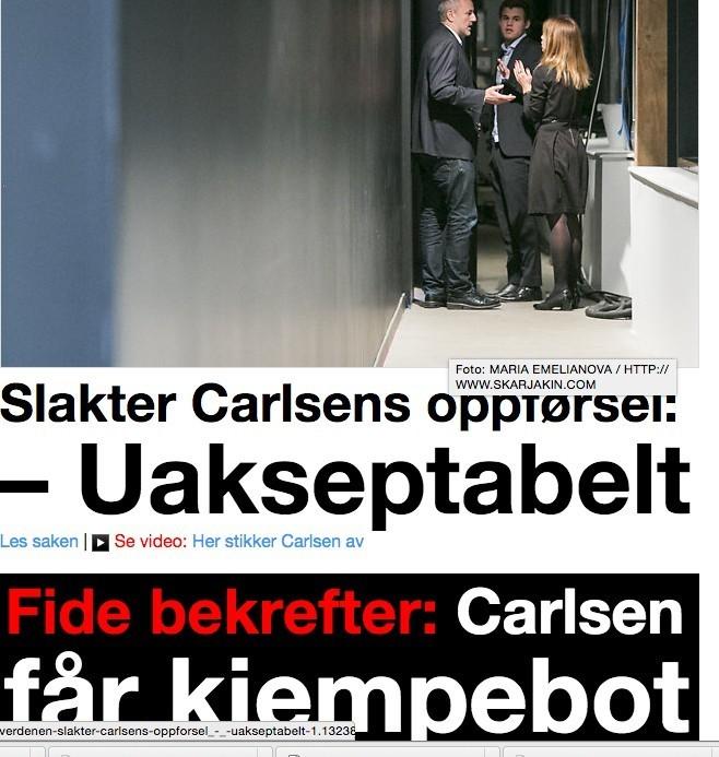 NRK осуждает норвежского шахматиста. Фото photo.khl.ru
