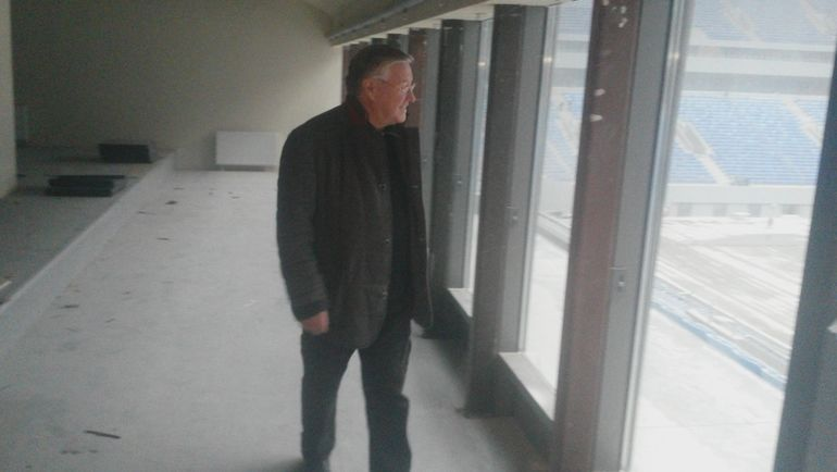 Геннадий ОРЛОВ на строящемся стадионе в Санкт-Петербурге. Фото Сергей ЦИММЕРМАН