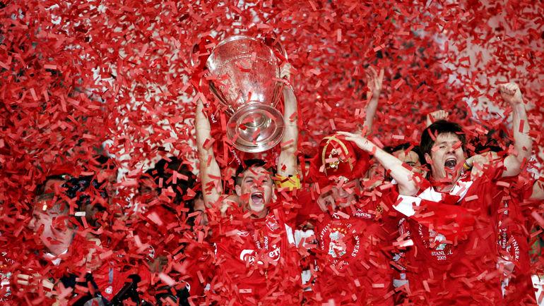 """25 мая 2005 года. Стамбул. """"Ливерпуль"""" - """"Милан"""" - 3:3. Пенальти - 3:2. Одна из самых запоминающихся побед Стивена ДЖЕРРАРДА. Фото REUTERS"""