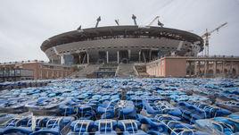 Стадион на Крестовском острове минувшим летом.